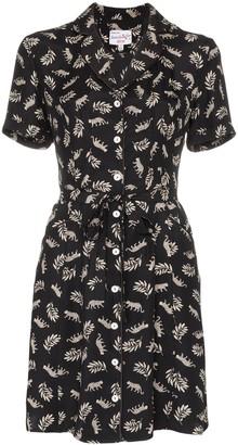 HVN Maria belted mini dress