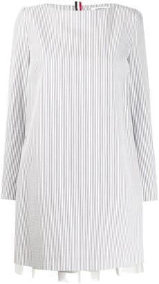 Thom Browne Seersucker Mini Dress