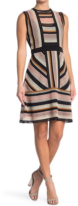 M Missoni Stripe Print Knit Dress