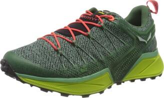 Salewa WS Dropline Trail Running Shoes Women's Green (Feld Green/Fluo Coral) 7 UK