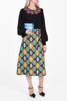 Andrew Gn A-Line Printed Skirt