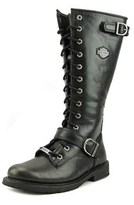 Harley-Davidson Jill Women Leather Black Motorcycle Boot.