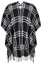 Yours Clothing YoursClothing Plus Size Womens Ladies Cardigan Top Checked Woven Wrap Fringing