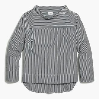 J.Crew Striped funnelneck shirt