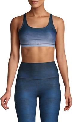 Wear It To Heart Crisscross Back-Strap Stretch Ombre Sports Bra