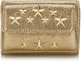 Jimmy Choo NEMO Gold Glitter Leather Small Wallet with Stars