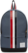 Thom Browne Grey Canvas Stripe Backpack