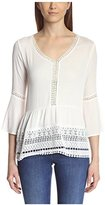 Cliche Clich Women's Lace-Trimmed Blouse