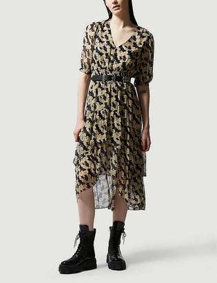 The Kooples Printed chiffon midi dress