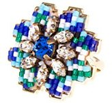 Shourouk Cara Blue Ring - Size N