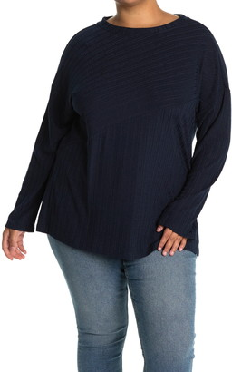 Gibson Ribbed Knit Button Front Top