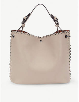 Folli Follie Purist studded faux-leather tote bag
