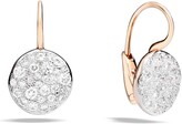 Pomellato Sabbia Diamond Disc Drop Earrings