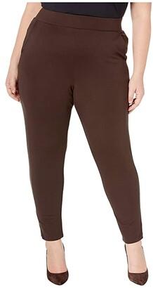 Hue Plus Size Ponte 7/8 Leggings (Black) Women's Casual Pants