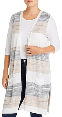 Joseph A Plus Open-Front Duster Sweater Vest