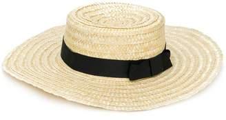 Sonia Rykiel ENFANT woven boater hat