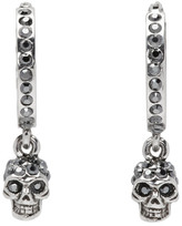 Alexander McQueen Silver Mini Skull Hoop Earrings