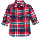 Gymboree Blue & Red Plaid Button-Up - Boys