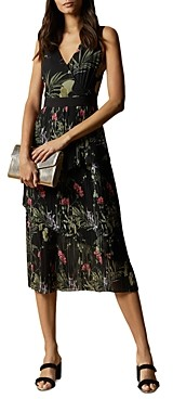 Ted Baker Malinae Highland Tiered Pleated Midi Dress