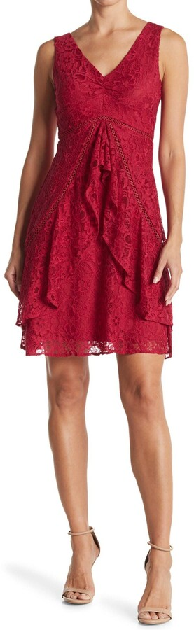 Taylor A-Line Ruffle Skirt Lace Dress