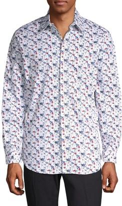 Perry Ellis Floral Stretch Cotton Sport Shirt
