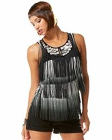 Mirror Yoke Fringe Top