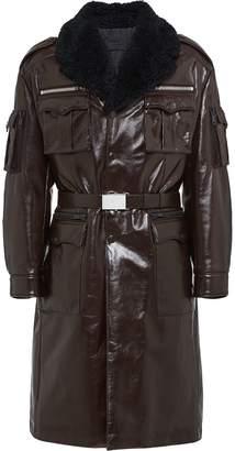 Prada shearling military coat