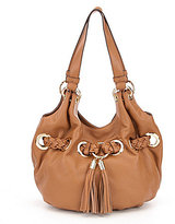 MICHAEL Michael Kors Tasseled Braided Grommet Pebble Large Tote