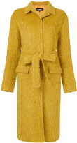 Rochas long belted coat - women - Polyamide/Cupro/Viscose/Alpaca - 42