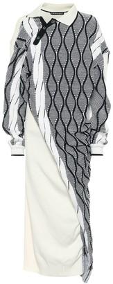 Y/Project Wool-blend knit midi dress