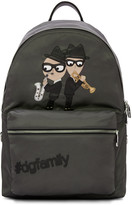 Dolce & Gabbana Grey Nylon Jazz Players Backpack