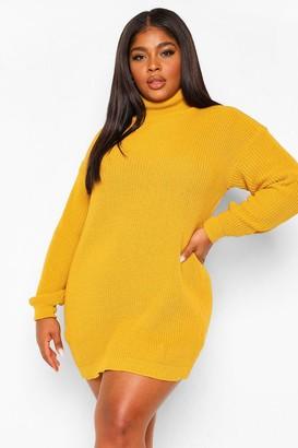 boohoo Plus Roll Neck Sweater Dress
