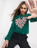 Love Moschino snow flake print logo sweatshirt