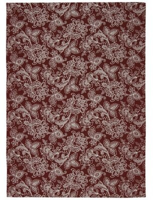 "Waverly Art House Floral Cordial Area Rug Rug Size: Rectangle 2'3"" x 3'9"""
