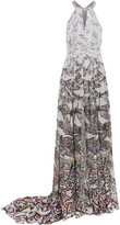 Matthew Williamson Printed silk gown