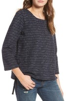 Madewell Women's Stripe Side Lace-Up Top