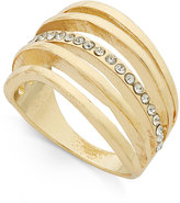 INC International Concepts Gold-Tone Multi-Row Pavé Statement Ring, Only at Macy's