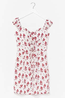 Nasty Gal Womens Grow Get 'Em Floral Mini Dress - White