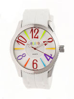 Crayo Womens Magnificent White Strap Watch CRACR2902