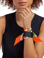 Salvatore Ferragamo Twilly Floral Silk Scarf & Logo Scarf Ring