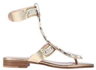 Red(V) Toe strap sandal