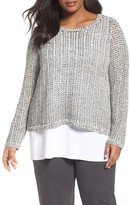 Eileen Fisher Plus Size Women's Organic Cotton & Linen Pullover
