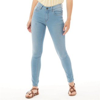 Board Angels Womens Denim Skinny Jeans Light Blue
