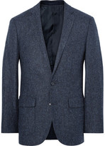 J.Crew Blue Ludlow Slim-Fit Herringbone Wool and Cotton-Blend Blazer
