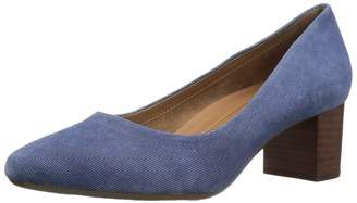 Aerosoles Women's Silver Star Heel - Leather Round Toe Dress Pump with Memory Foam Footbed