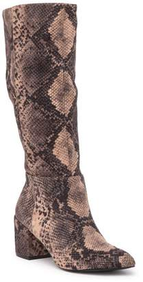 Charles by Charles David Harbor Snake Printed Tall Boot