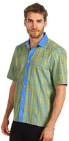 Versace Printed Short Sleeve Shirt with Contrast