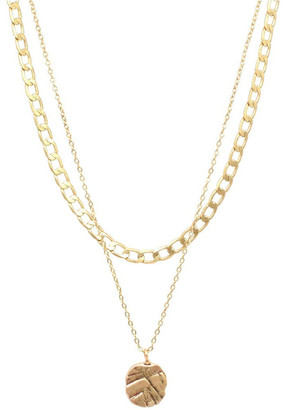 Bling Bar Odine Double Necklace Gold