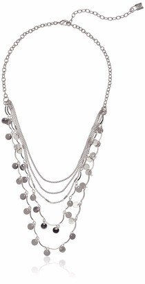 Chaps Women's Silver Multi Row Shaky Necklace