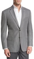 Armani Collezioni Textured Check Two-Button Sport Coat, Black/White